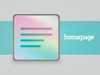 Kickstarter Cover Design - Homepage