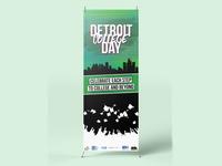 Detroit College Day - X-Banner Stand Design