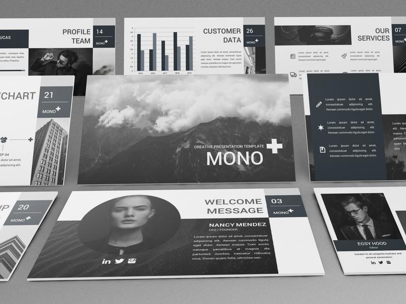 Mono - Lookbook Powerpoint Template