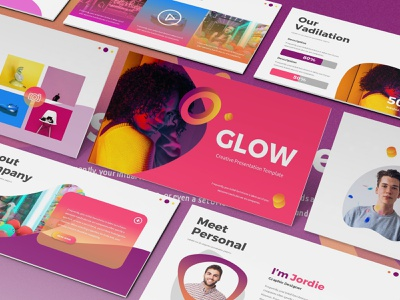 Glow Gradient Powerpoint Template By Slidefactory On Dribbble