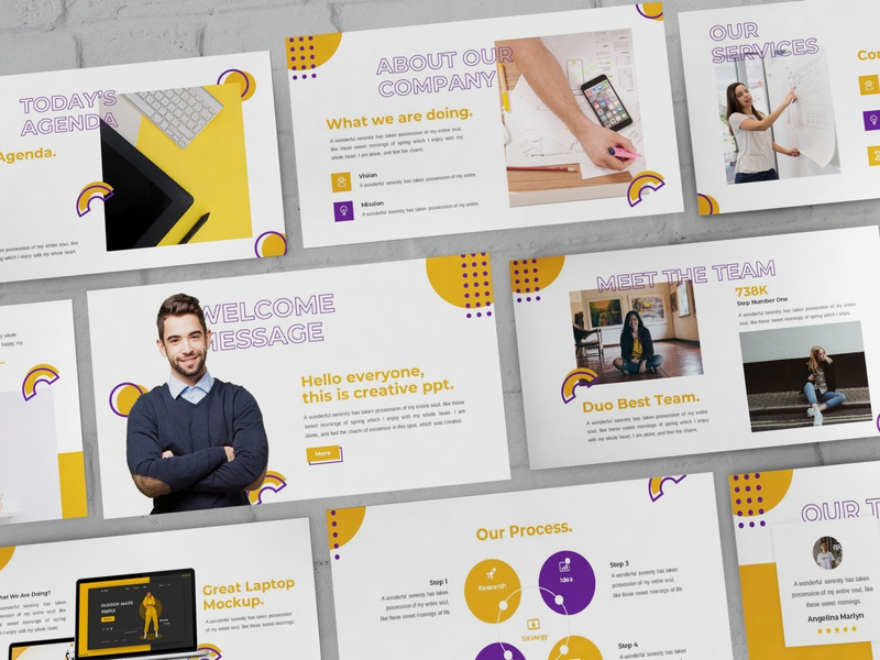 Mythic - Creative Powerpoint Template keynote investor clean finance simple lookbook illustration business presentation presentation powerpoint template
