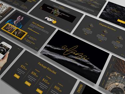 Alana – Jewelry Presentation Template jewelry clean minimal slides simple lookbook pitchdeck business presentation presentation powerpoint template