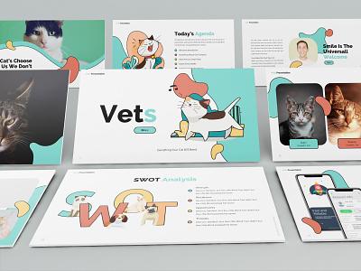 Vets – Pets Presentation Template pets proposal keynote template clean minimal simple slides lookbook pitchdeck business presentation presentation powerpoint template