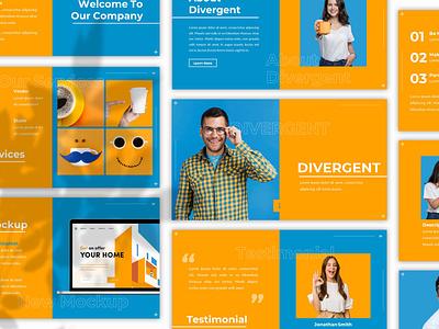 Divergent – Creative Presentation Template keynote proposal keynote template minimal slides simple lookbook pitchdeck business presentation presentation powerpoint template