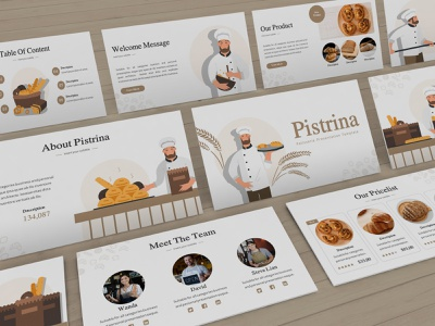 Pistrina – Pastry Presentation Template pastry shop pastry proposal keynote template clean minimal simple slides pitchdeck lookbook presentation business presentation powerpoint template