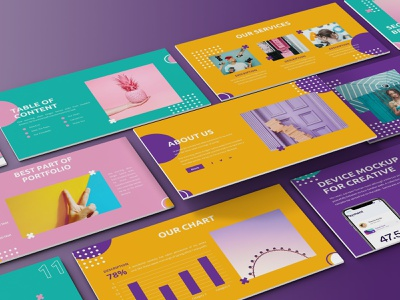 Fancy – Colorful Presentation Template colorful creative illustration keynote template proposal slides simple lookbook pitchdeck presentation business presentation powerpoint template