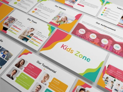 Kids Zone – Playful Presentation Template keynote template fun colorful simple clean slides lookbook pitchdeck business presentation presentation powerpoint template