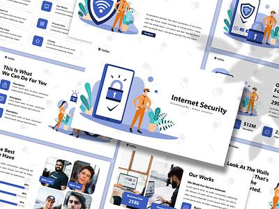 Intsec – Internet Security Presentation Template internet internet security simple illustration proposal keynote template slides lookbook pitchdeck business presentation presentation powerpoint template