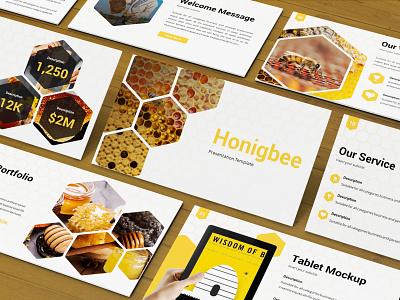 Honigbee – Honey Presentation Template proposal slides design keynote template lookbook minimal pitchdeck business presentation presentation powerpoint template