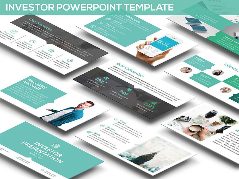 investor presentation - powerpoint templateslidefactory - dribbble, Powerpoint Template Investor Presentation, Presentation templates