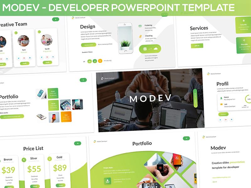 modev developer presentation template by slidefactory dribbble