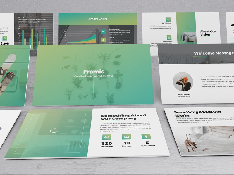 Fromis - Simply Gradient Powerpoint Template lookbook keynote template finance slides minimal business presentation keynote presentation powerpoint template pitchdeck