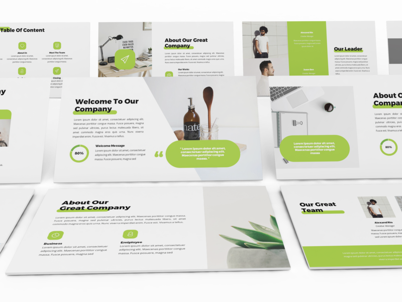 Twice - Minimal & Simple Powerpoint Template lookbook keynote template slides business presentation presentation keynote powerpoint template pitchdeck