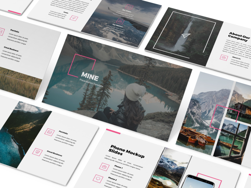 Mine - Simple Powerpoint Presentation Template simple minimal lookbook keynote template slides business presentation presentation keynote powerpoint template pitchdeck