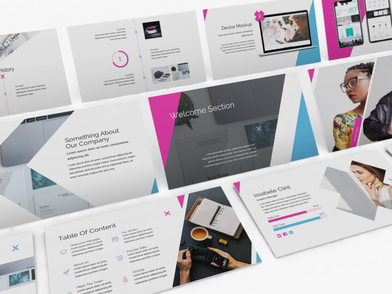 Xtra - Simplicity Powerpoint Template lookbook keynote template slides business presentation keynote presentation powerpoint template pitchdeck