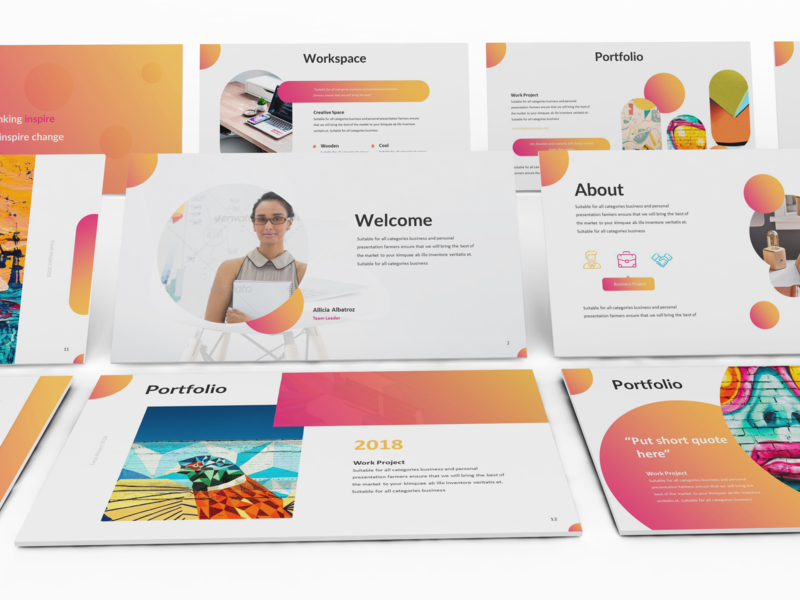 Clorama Creative Presentation Template By Slidefactory On