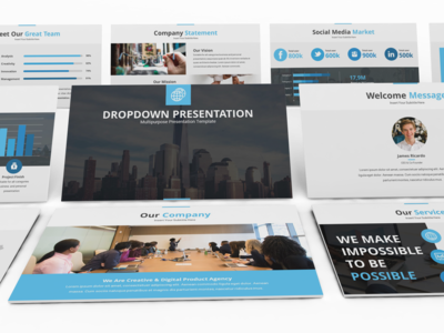Dropdown Powerpoint Presentation Template