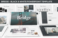 Bridge - Black & White Powerpoint Presentation