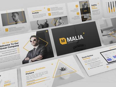 Malia - Creative Powerpoint Template