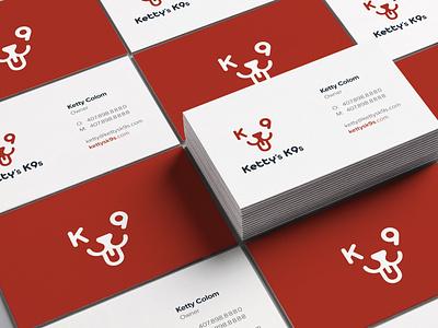 Ketty's K9s illustration typography logo brand identity