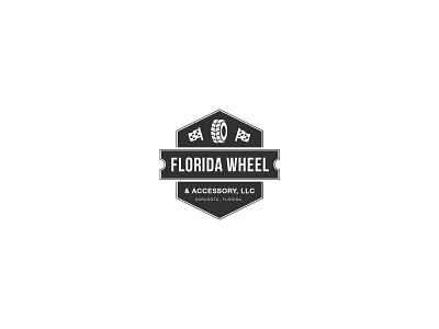 Florida Wheel & Accessory logo design logo brand identity