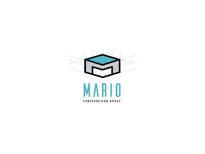 mario construction group logo design logo mark symbol logo mark logo brand identity
