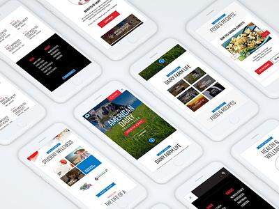 mobile design, american dairy ux ui web design icon app mobile mobile design american dairy