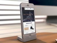 BTS - fashion auctions webdesign