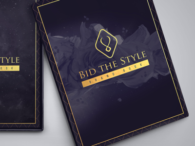 Bid the Style - Brandbook 2/3 star rose box book brandbook cover space violet copper branding logo mark