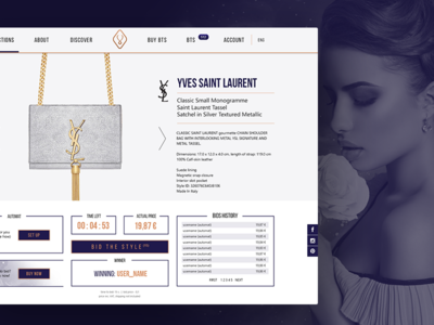 Bid the Style - webdesign star woman typography typo photomanipulation frame layout ui webdesign web