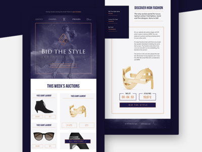 Bid the Style - mailing mail woman typography typo mailing frame layout ui webdesign web