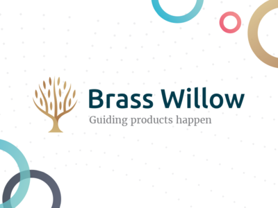 Brass Willow - agile branding identity mark technology visual branding wave dot scrumm bubble circle colors logo