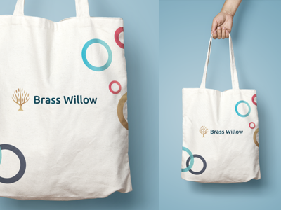Brass Willow - agile branding materials branding technology it ring circle color key visual bag