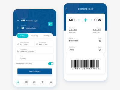 Flights Booking App Design