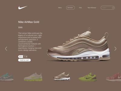 Nike Webpage Gold