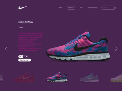 Nike Webpage Purple