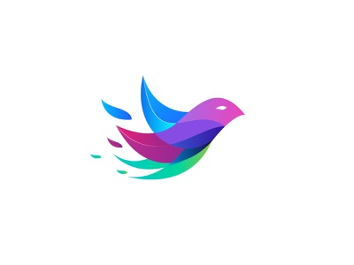 Bird Gradient 01 typography animal art minimalist logo vector designdesigner logoinspiration bird illustration logotypo logodesigner illustrator identity branding bird