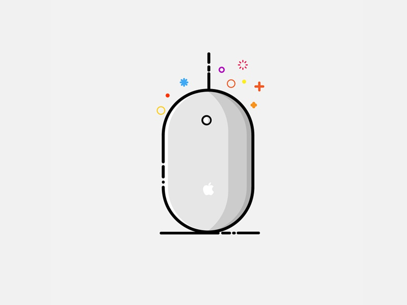 MBE Style vector illustrator mbe mac mouse