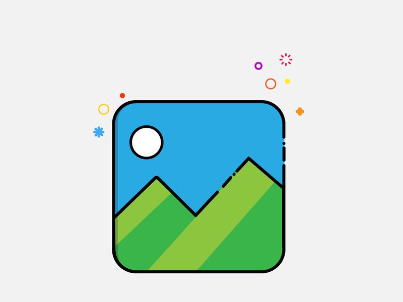 Gallery Icon MBE Style icon logo design mbe illustrator