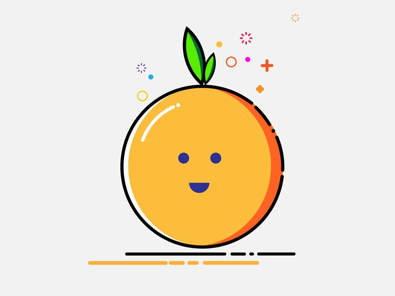 ORANGE_MBE Style branding icon vector mbe illustrator