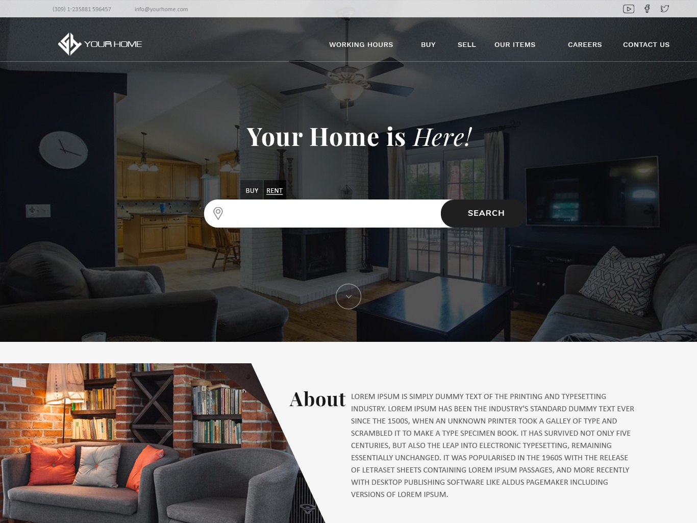 YOURHOME- Web design concept interface webtemplate concept design web ux  ui
