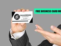 BUSINESS CARD DISPLAYING MOCKUP