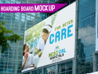 Hoardings board mock-up | Free