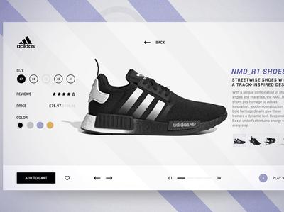 Adidas NMD_R1 SHOES E-commerce UI/UX