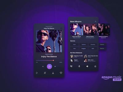 Mobile Music Player App UI web design ux ui app