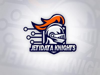JETIDATA KNIGHTS Logo design logo