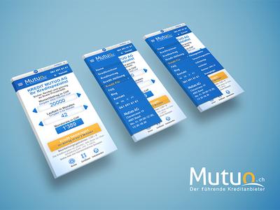 Mobile Version of Calculator app flat design ux ui