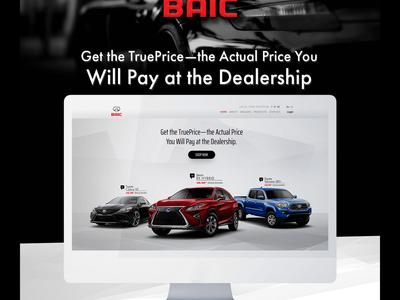 Baic Car Portal website illustration ui web ux app