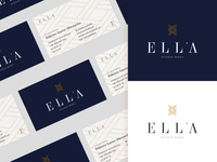 Ella Identity Design icon typography identity brand identity brand design brand business card logo design branding