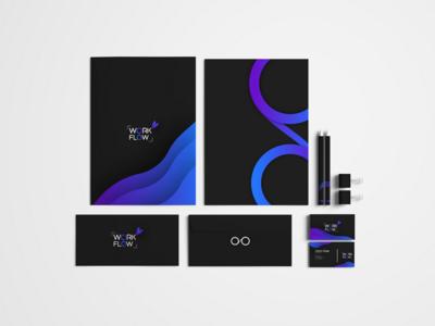 Work Flow Branding identity mockup brand business design branding